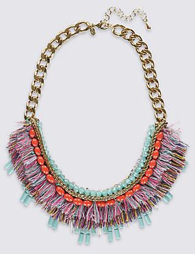 Multi-Bead Collar Necklace