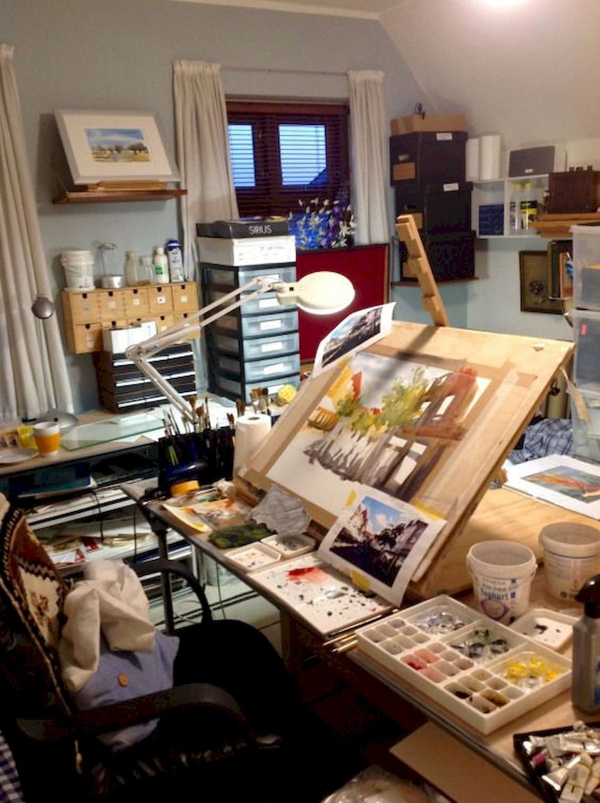 Gorgeous 58 Fantastic Art Studio Organization Ideas And Decor Source Https Artmyideas Com 2019 01 30 58 F Art Studio Room Art Studio Decor Art Studio Space