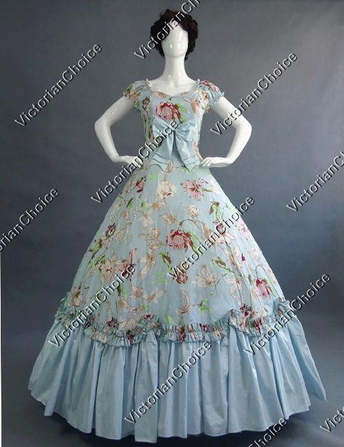 Southern Belle Alice in Wonderland Period Dress Theater Civil War Prom Gown 208