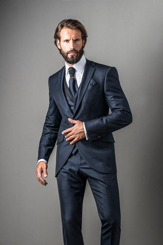 9a92d1437ad13 Fuentecapala Traje de chaqueta azul marino 131327
