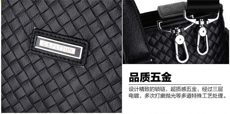 skutečné pravé kožené aktovky pánské značky luxusní Business kabelka Módní  oděv pánské tašky diamantová mřížka 774519458b1