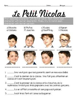 Activity questions for the film le petit nicolas activities films and french classroom - Le petit nicolas film ...