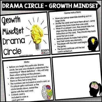 Growth Mindset Drama Circle | Mindset | Drama activities