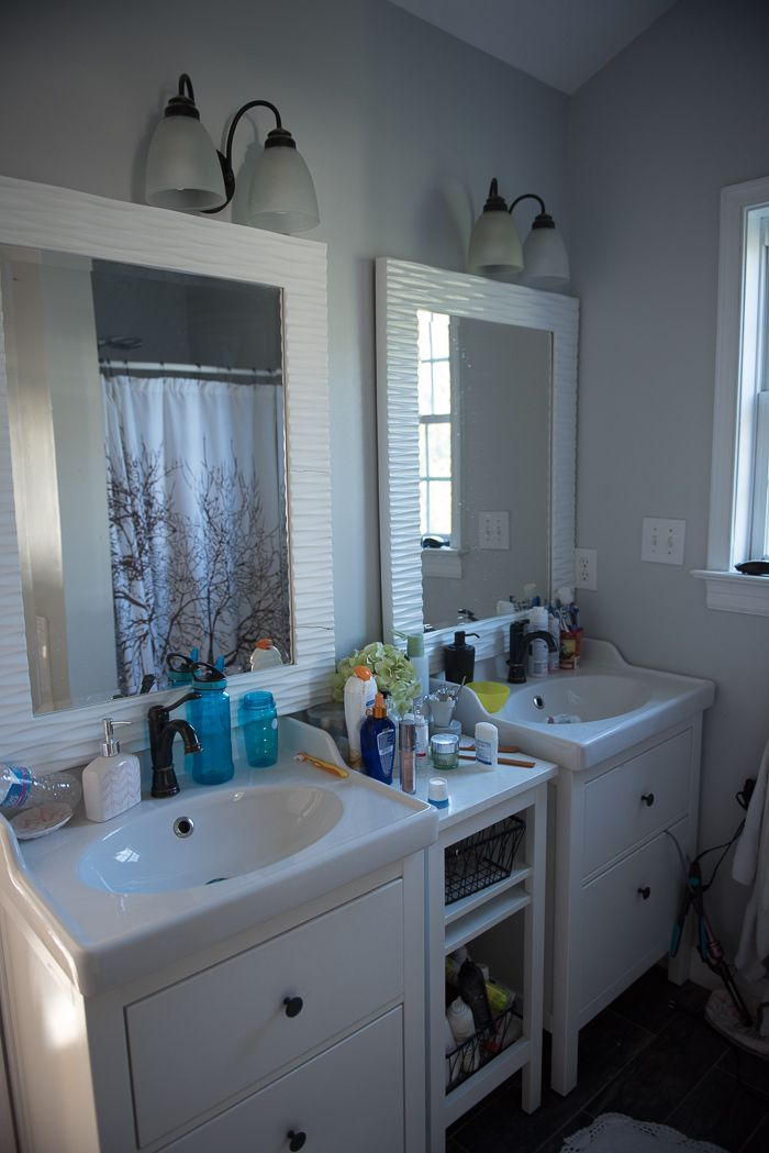 Master bathroom update. Not complicated but makes a huge ...