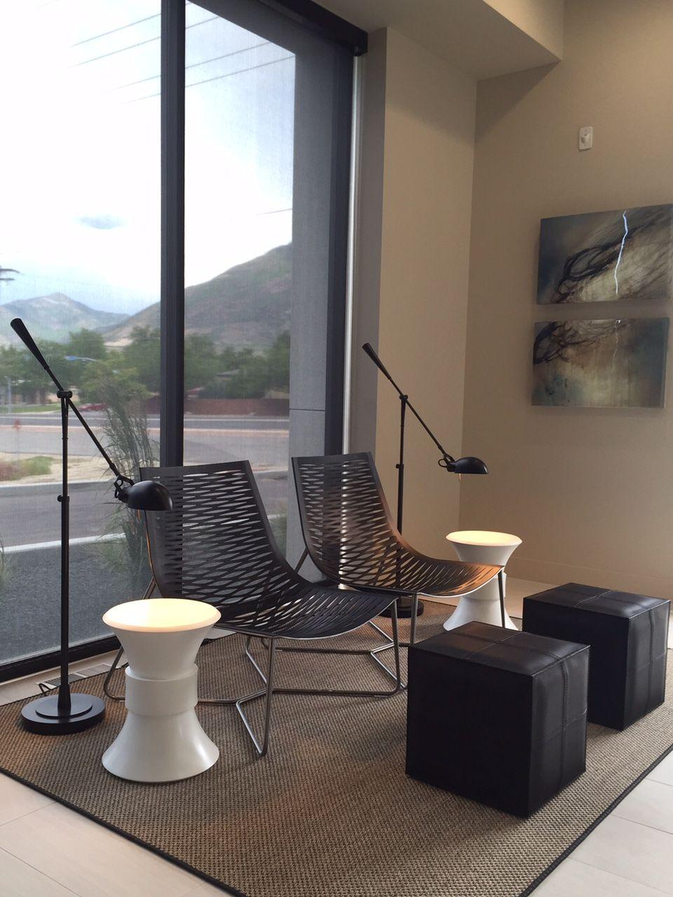 Enjoyable Modloft York Lounge Chairs Dacre Cubes Black Leather Machost Co Dining Chair Design Ideas Machostcouk
