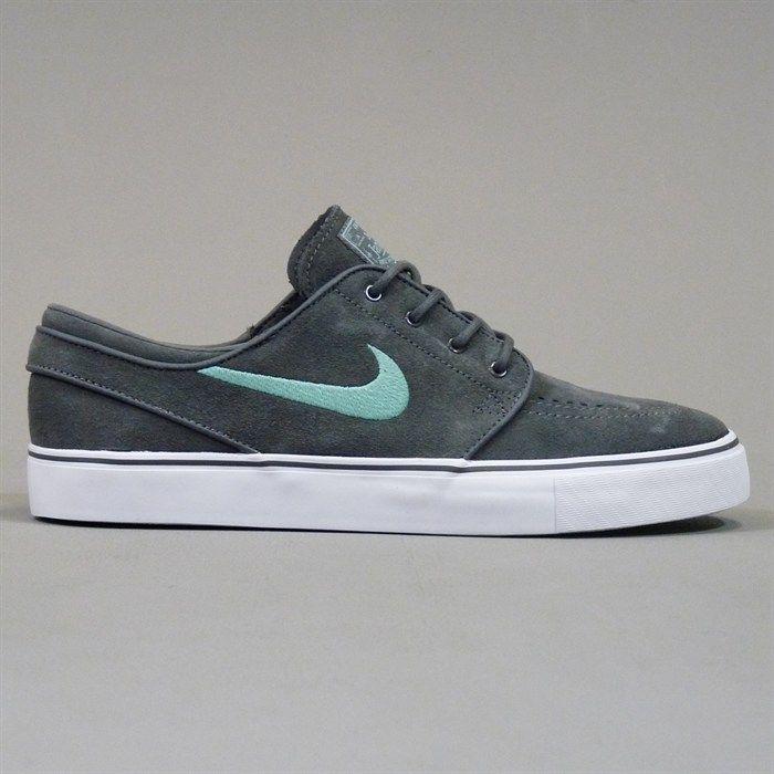 43a1e86a0b3 Nike Zoom Stefan Janoski Shoes - Dark Grey and Medium Mint | Shoes ...