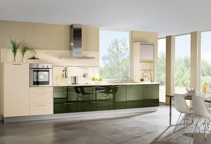Küche in Grün #Küchenzeile wwwdyk360-kuechende Kitchen - küchen in u form