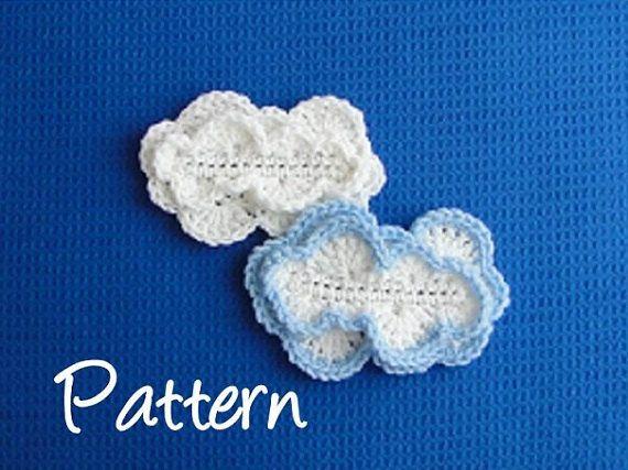 Cloud Crochet Pattern Cloud Applique Crochet by AllMyStyles | Coffee ...