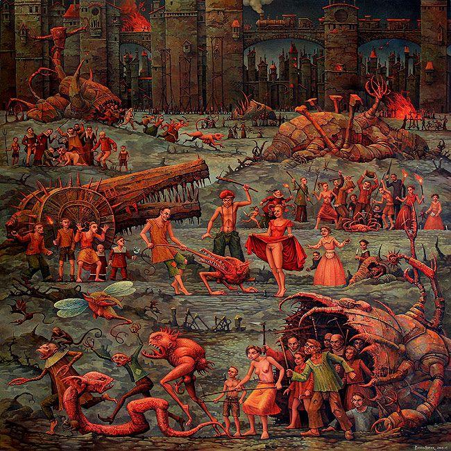 The Wonderful World Of Nik E April 2009: Michael Hutter - Triptych (2008-2009) - Center