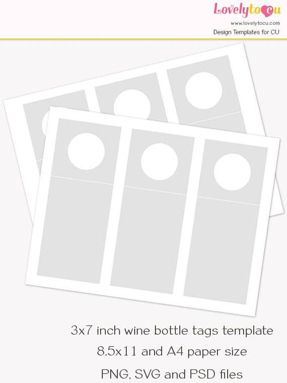 Wine Tag Template Wine Bottle Gift Tag Template Wine Bottle Gift
