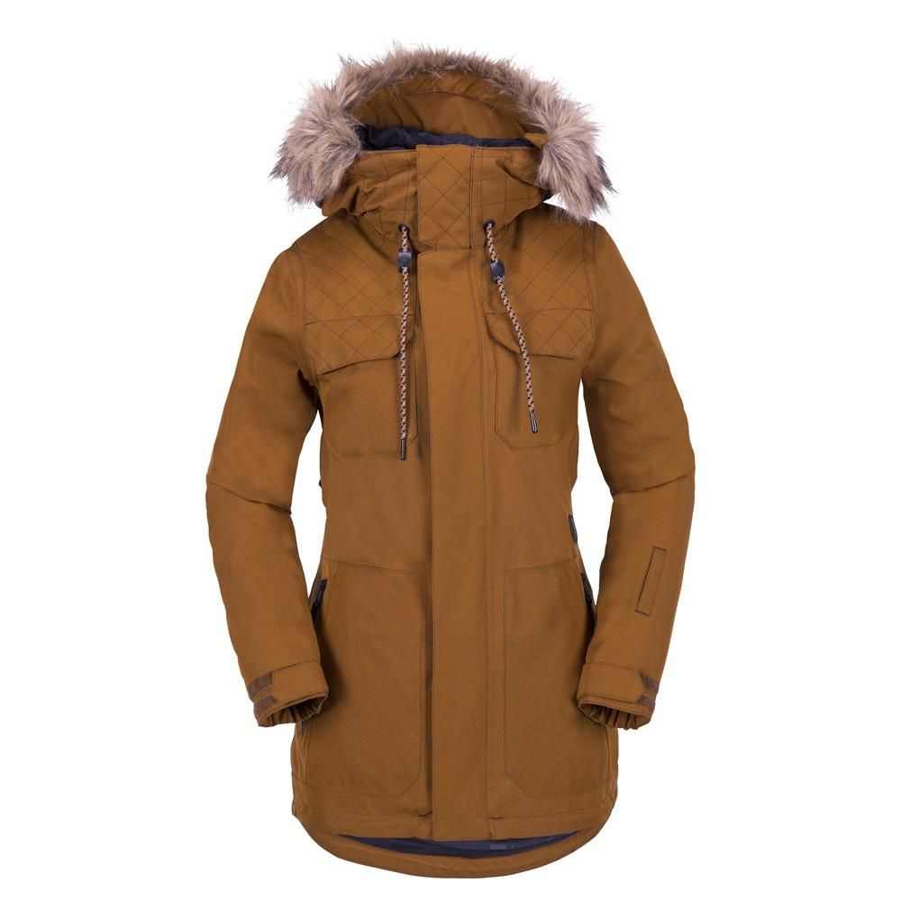 87ce87e29b83 VOLCOM WOMENS SHADOW INSULATED SNOWBOARD JACKET -COPPER - 2018 ...