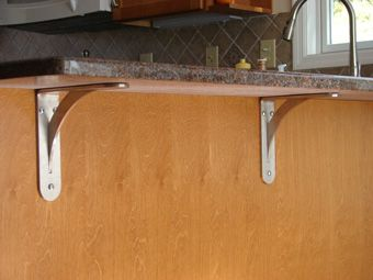 Countertop bracket support brackets galore pinterest How to support granite overhang
