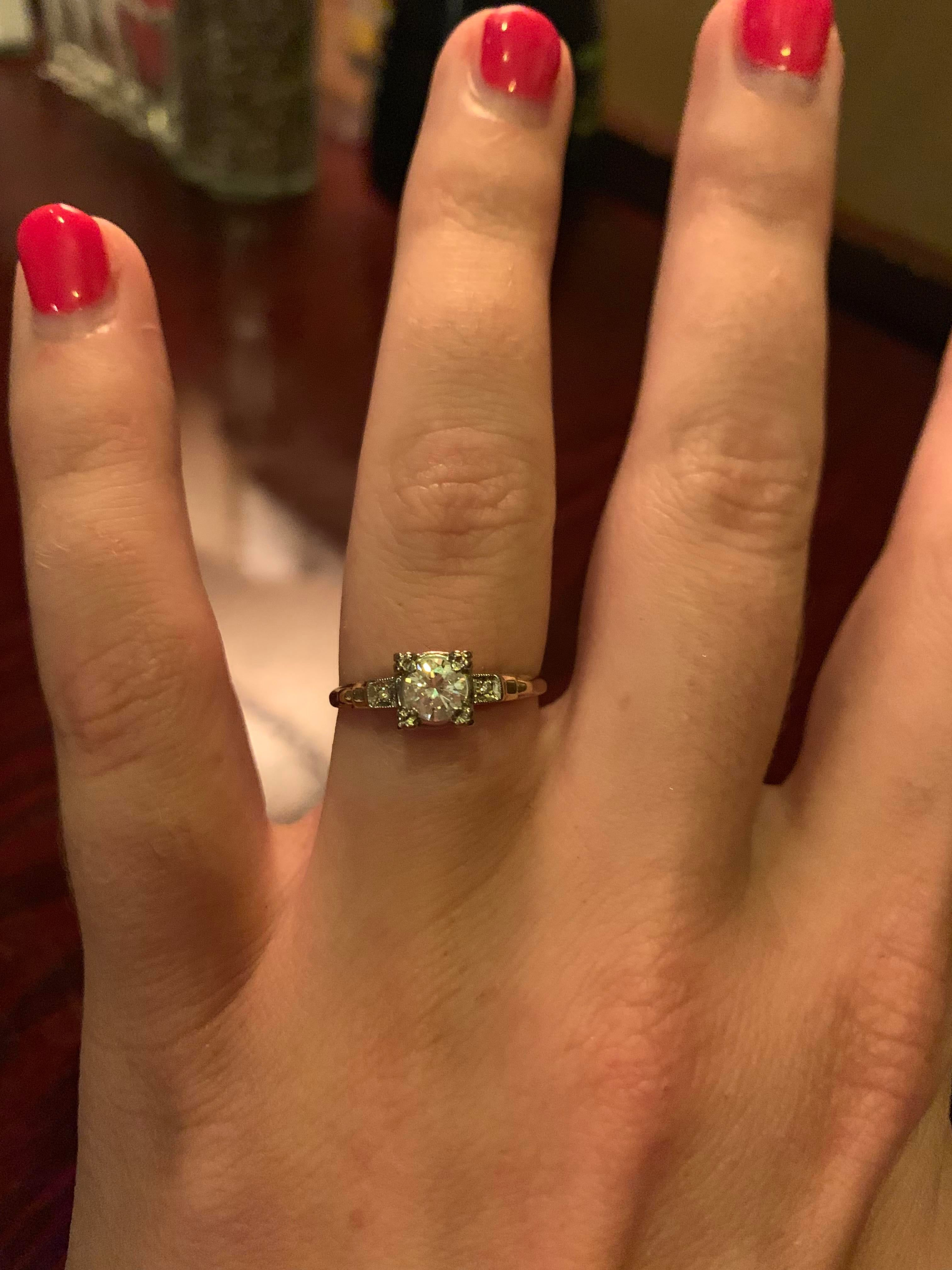 He proposed the day before my birthday! This is his great