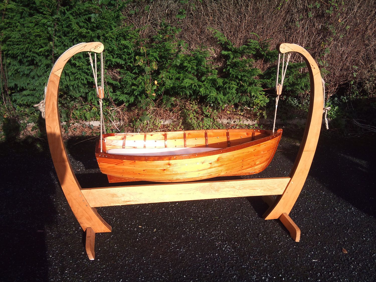 Baby cribs and cradles - Hand Made Baby Boat Crib By Robynwilliams2 On Etsy 800 00 Usd Via Etsy