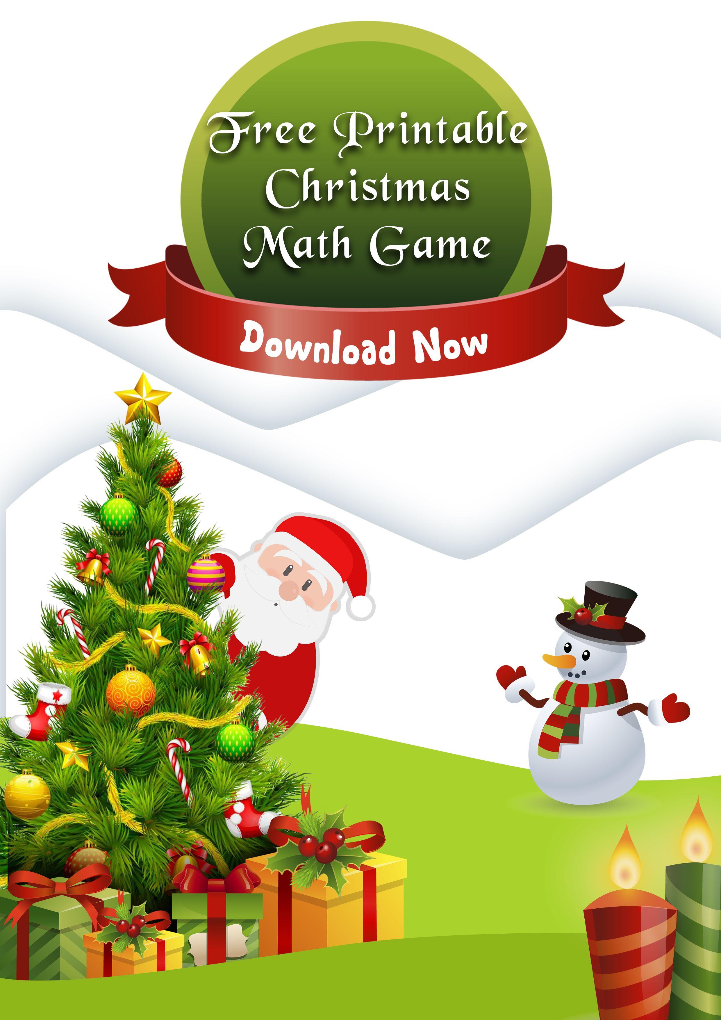 Free Christmas Printable Math Game