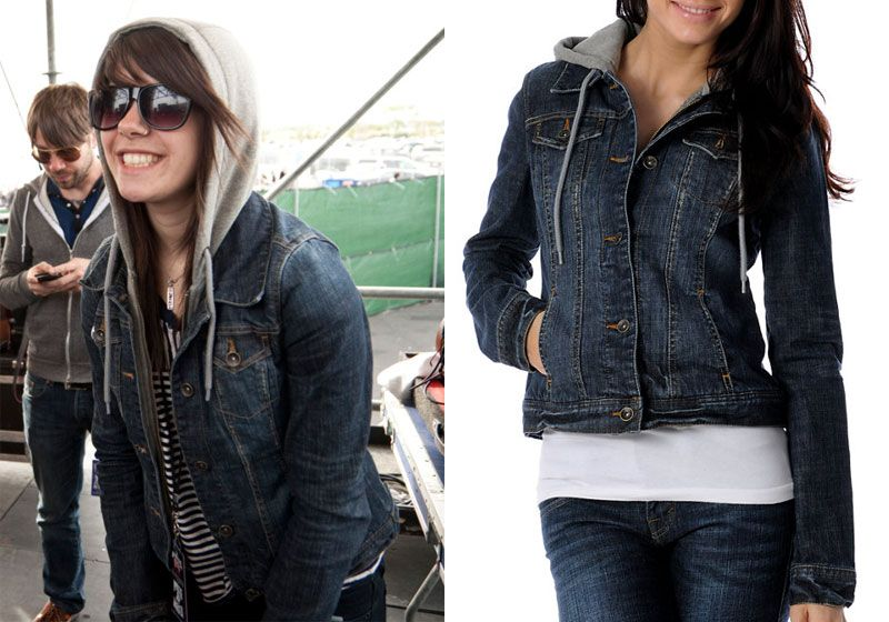 Denim jacket and grey hoodie – Modern fashion jacket photo blog