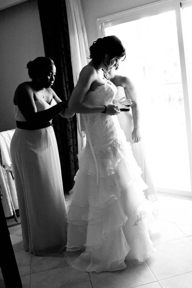 Destination bride getting ready pictures destination wedding dress