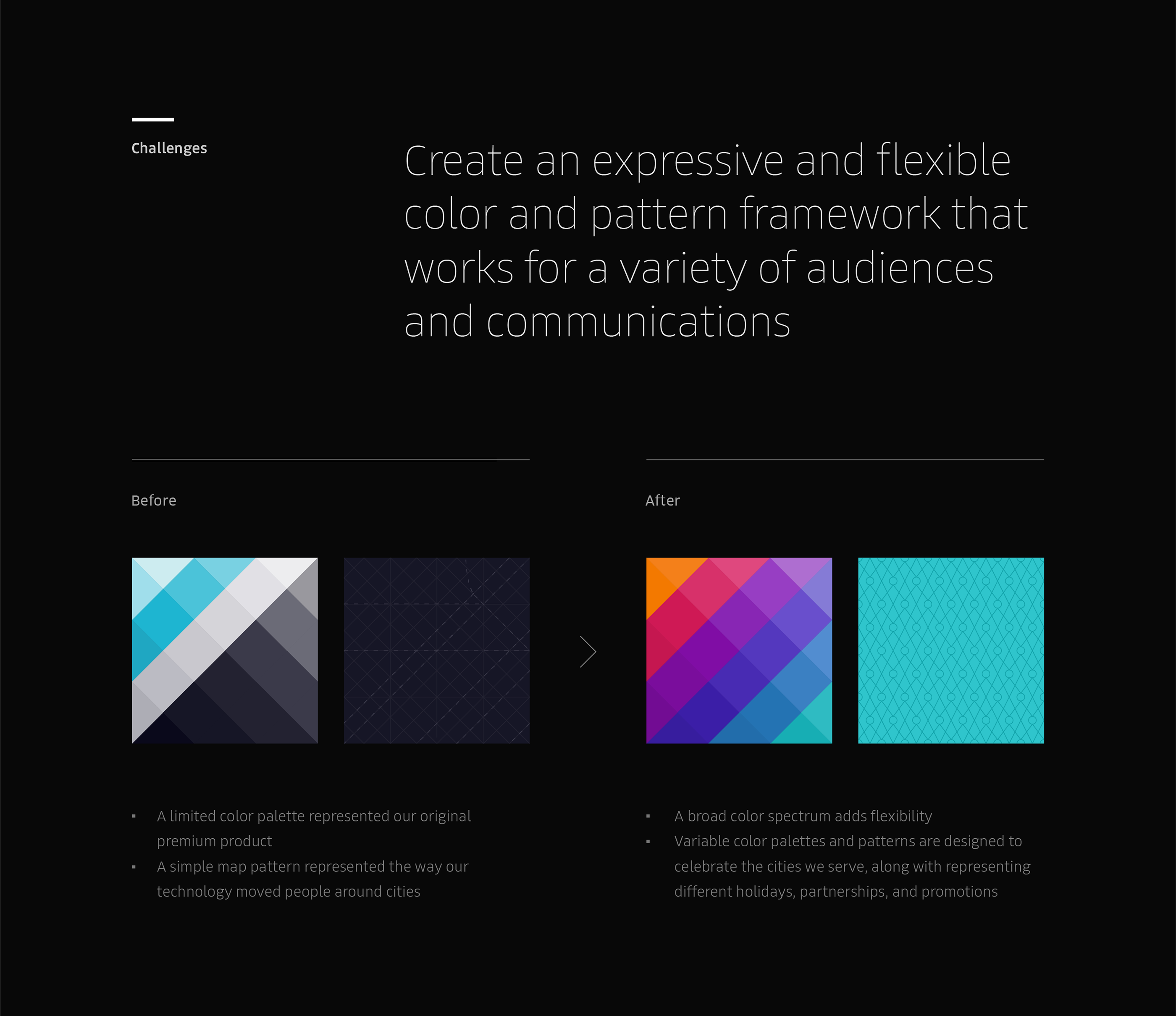 Uber Rebrand: Color and Pattern Framework on Behance | 品牌