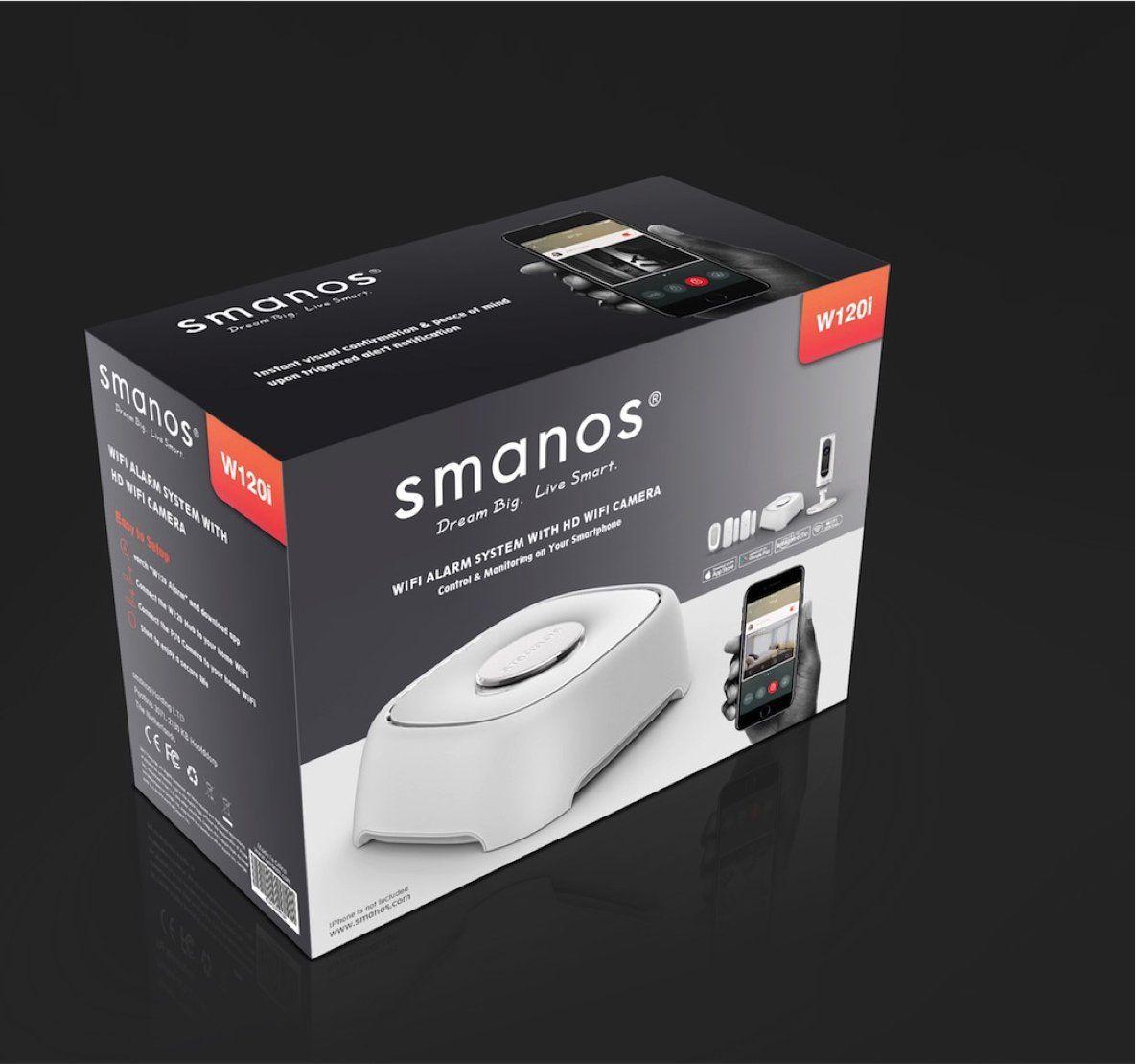 smanos w120i  smanos W120i DIY WiFi Burglar Alarm (Works with Amazon Alexa) & HD ...