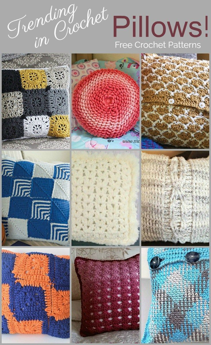 Trending in crochet are fashionable diy pillows free crochet