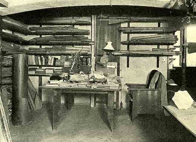 atelier of antoni gaudi in the sagrada familia as it was