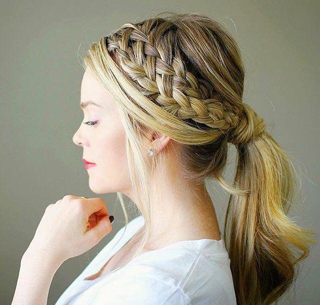 20 Hermosos peinados recogidos para cabello largo que te volverán loca | Peinados con trenzas ...