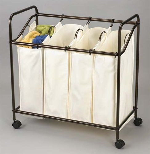 Bronze 4 Bag Laundry Sorter This Would Be Great For The Master