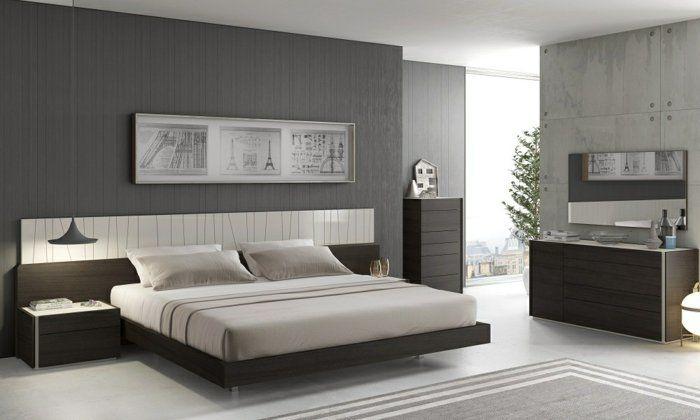 Schlafzimmer Grau   88 Schlafzimmer Mit Deutlicher Präsenz Von Grau.  Contemporary Bed SetsModern ...