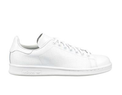 baskets blanches cuir stan smith blanc adidas originals pour femme prix promo baskets adidas. Black Bedroom Furniture Sets. Home Design Ideas