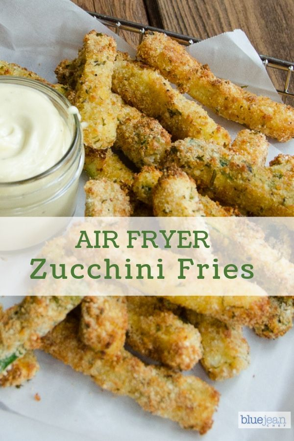 Air Fryer Zucchini Fries are a lighter and lower carb option than regular French fries Make this recipe in the air fryer and you only need a small amount of oil for crisp...