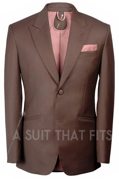 A light coffee brown Première Two Piece Suit with a bronze ...