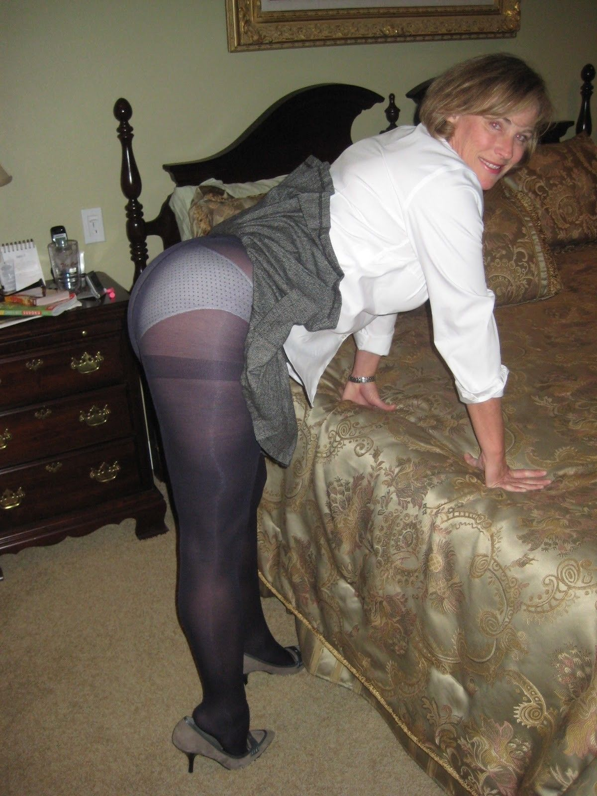 Mature skirt panty share your