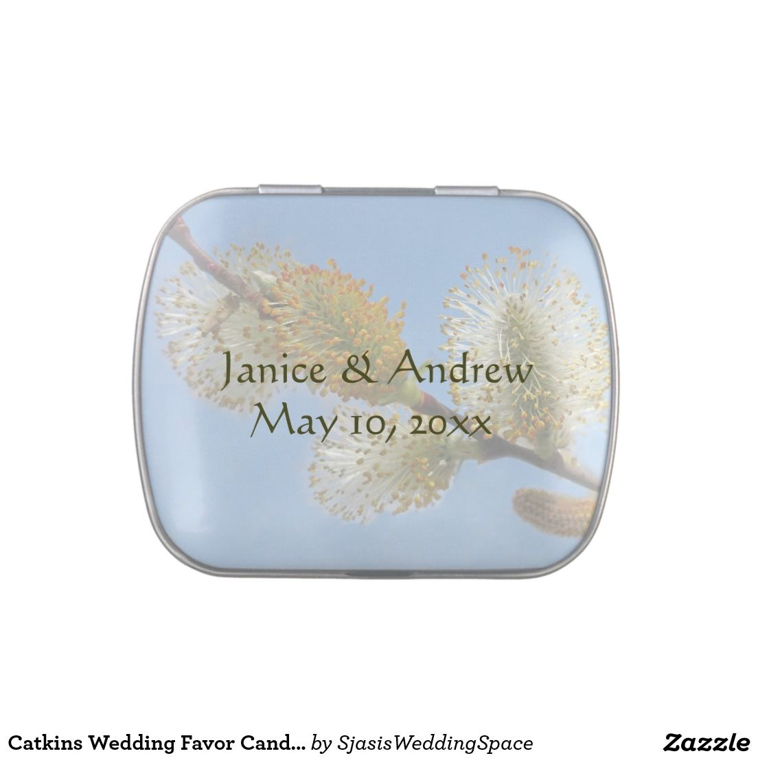 Catkins Wedding Favor Candy Tin | Wedding : Candy Tin Favors ...
