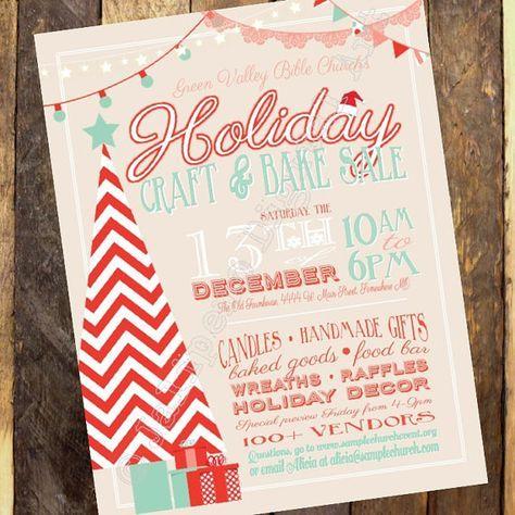 Christmas Craft Show Flyer.Holiday Craft Boutique Craft Fair Invitation Vendor Show