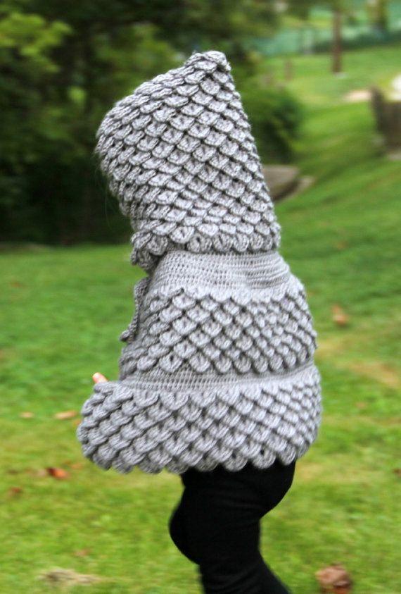CROCHET PATTERN: Crocodile Stitch Hooded Cape (baby & kids ...