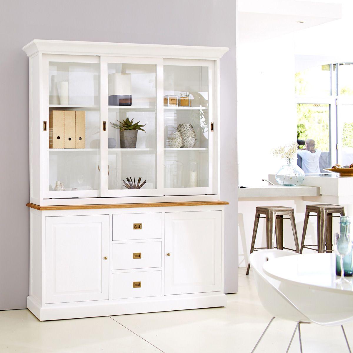 Vaisselier Blanc Et Ch Ne 170 Cottage Pour Future Maison