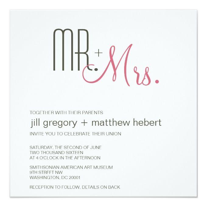 Retro Modern Wedding Invitation