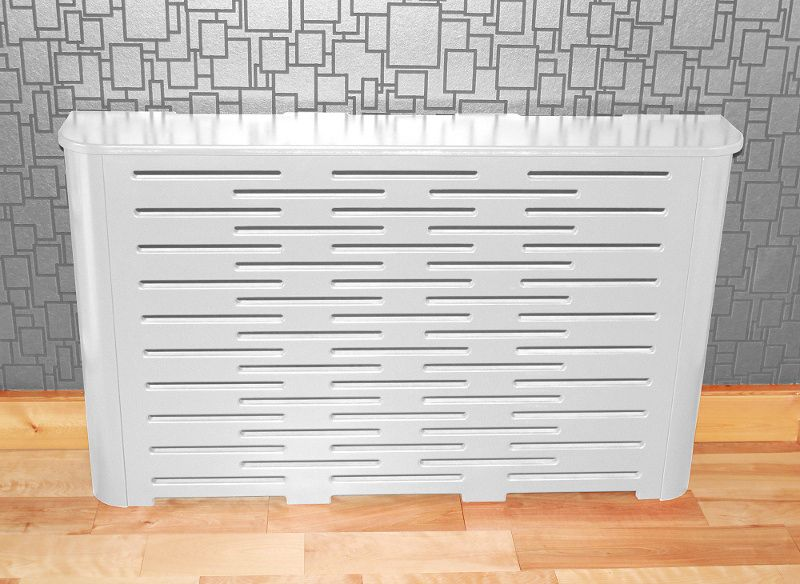 Radiator Cover Finished In White Gloss Radiator Covers