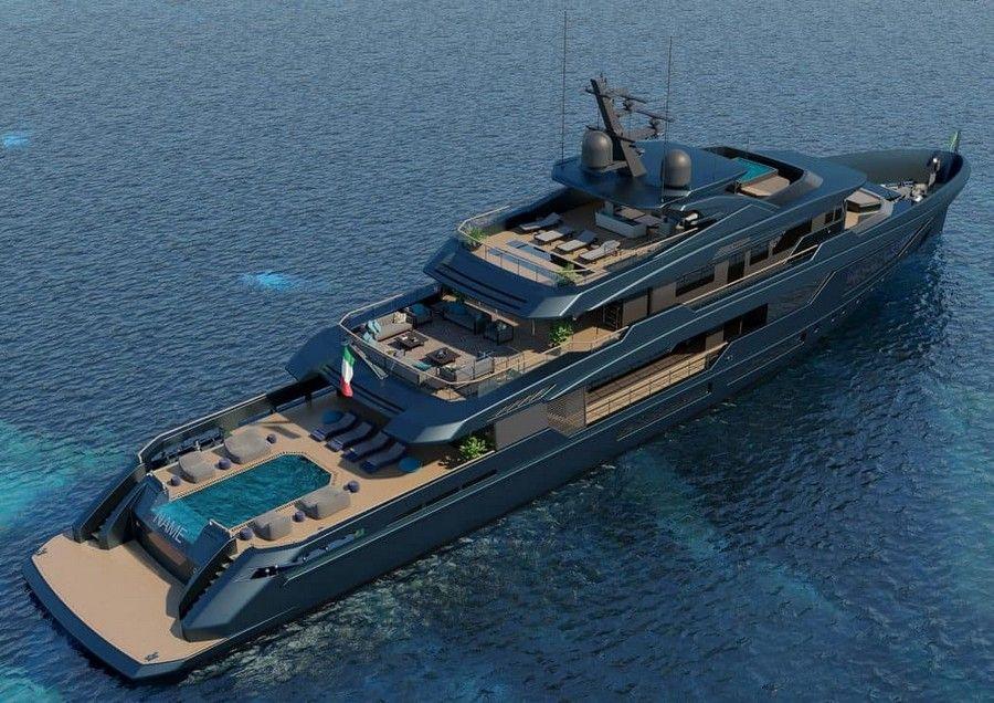 Mondomarine's Newest Super Yacht Concept was made alongside Luca Dini