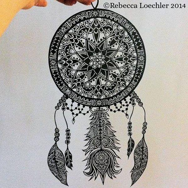Intrincados dibujos con plumas de tinta permanente Dibujos de