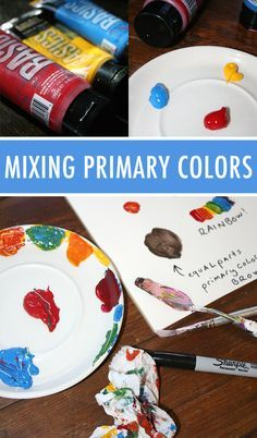 Create millions of colors with the simplest of supplies: red, yellow and blue…