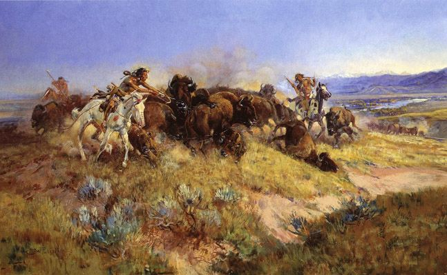 A Bad One  by Charles Russell   Giclee Canvas Print Repro