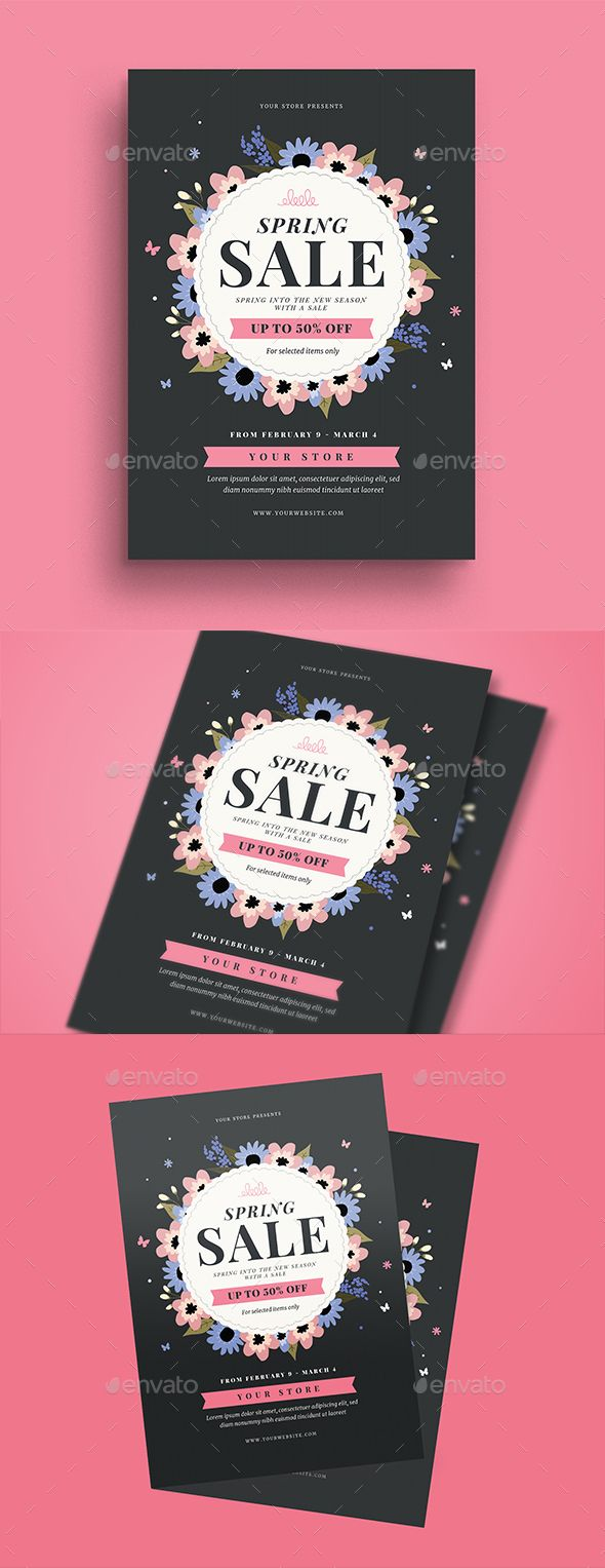 Spring Sale Event Flyer Event Flyers Spring Sale And Flyer Template