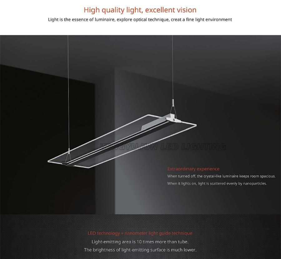 Led Frameless Light Guide Plate Droplight Living Room Restaurant Hotels Office Crystal Chandelier Creative