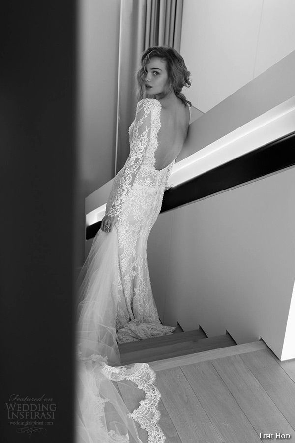 Lihi Hod 2015 Wedding Dresses Film Noir In White Bridal Collection Dress Low BackLing
