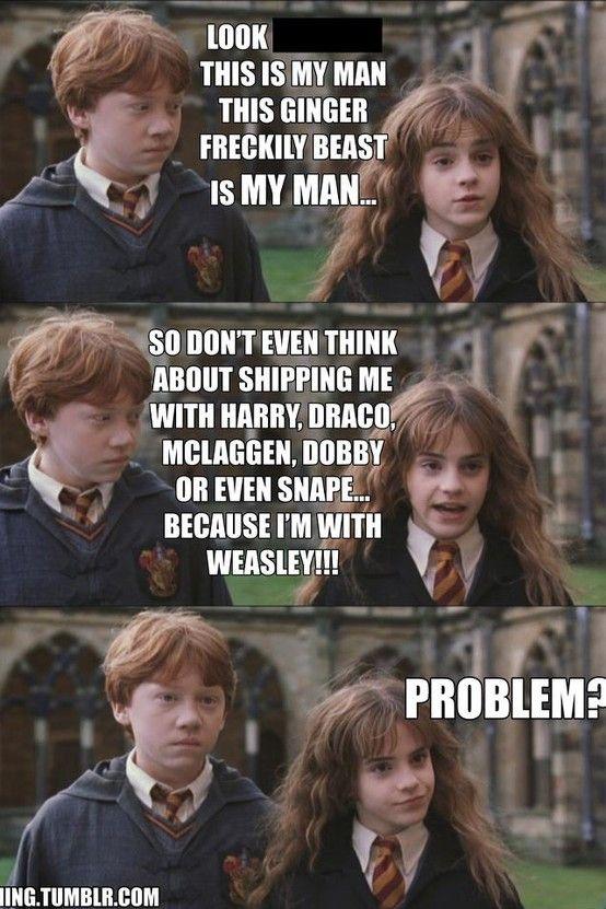 ron weasley mine Hermione Granger romione ron x hermione ...  |Love Harry Potter Ron Meme
