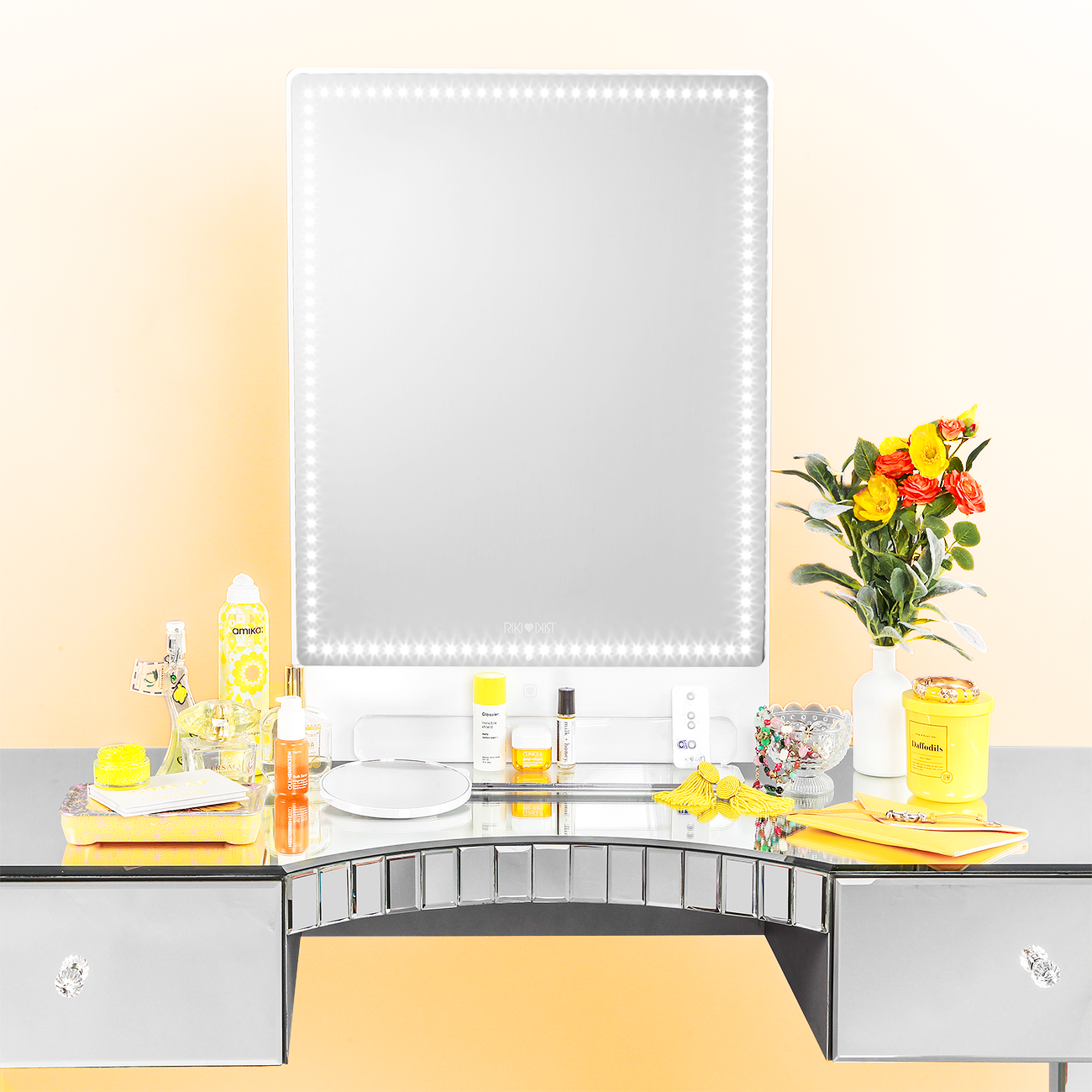 Lighted makeup mirror vanity setup RIKI TALL Makeup