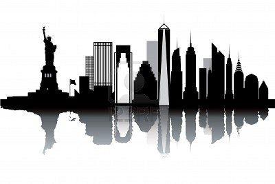 New York Skyline Black And White Vector Illustration New York Illustration New York Tattoo New York Skyline