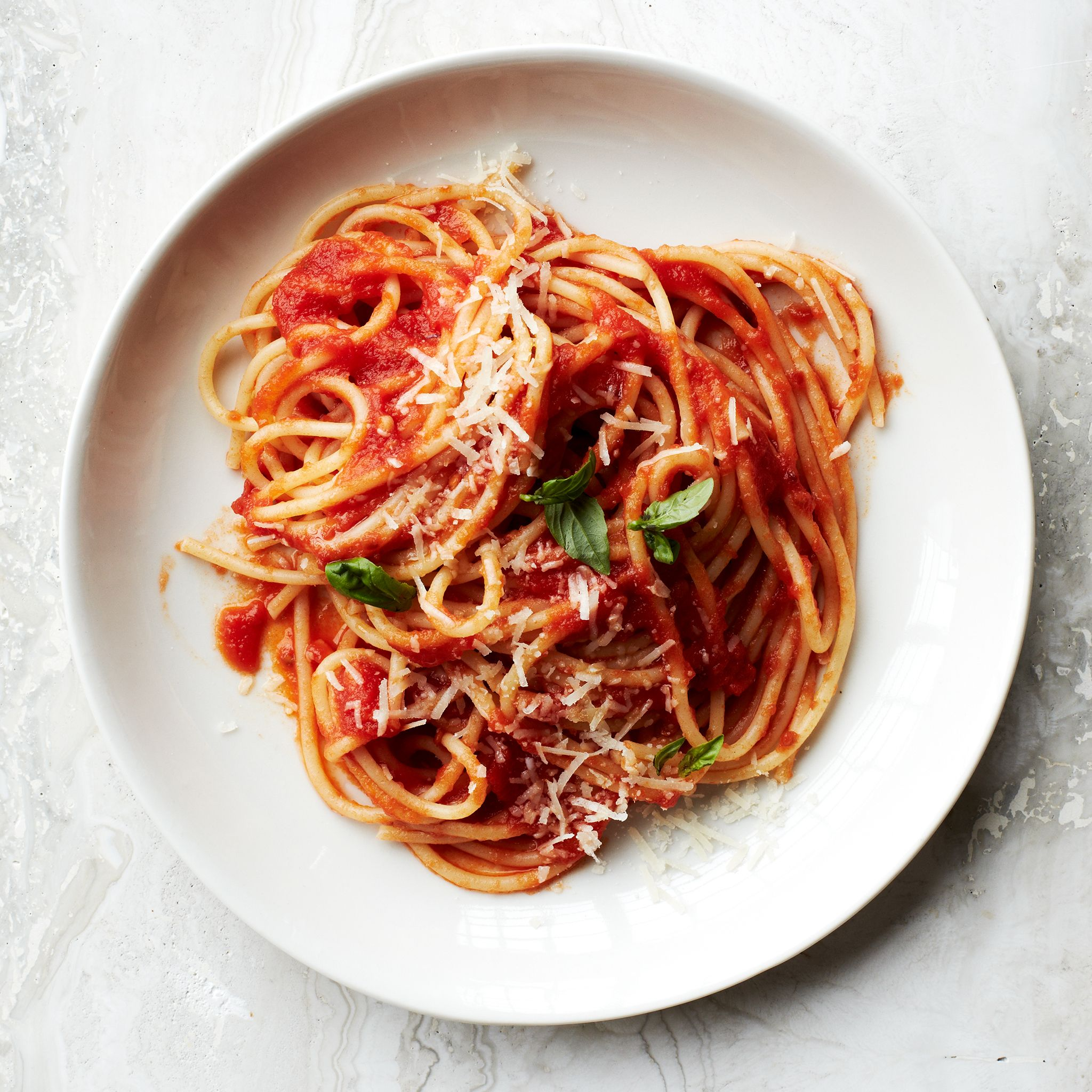 Sauce Simmered Spaghetti Al Pomodoro Spaghetti Al Pomodoro Healthy Pastas Pomodoro Recipe