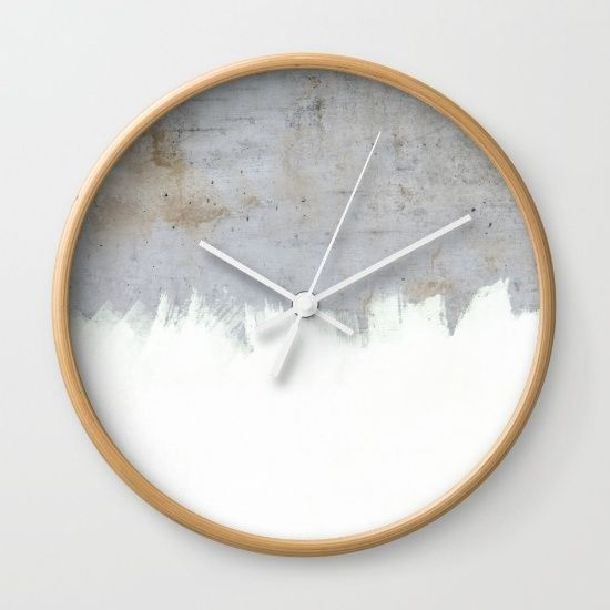 Painting On Raw Concrete Wall Clock By Cafelab Diy Clock Wall Wall Clock Clock